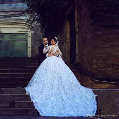 Forme Marquise Traîne moyenne Col U profond Dentelle 2020 Robes de mariée avec Dentelle_4