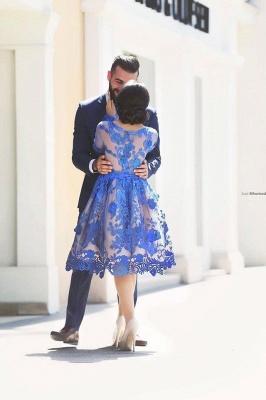Forme Princesse Col U profond Tulle Court/Mini Robes de soirée avec Dentelle_3