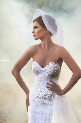 Forme Princesse Longueur ras du sol Col en cœur Tulle Robes de mariée 2021 avec Appliques_4