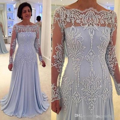 Forme Princesse Longueur ras du sol Mousseline polyester Robes de bal 2021 avec Dentelle_2