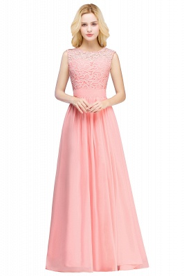 Forme A-line robe de cérémonie en dentelle délicat mousseline polyester longueur sol couleurs au choix_6