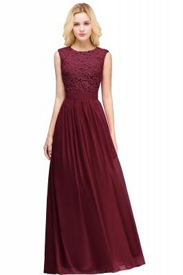 Forme A-line robe de cérémonie en dentelle délicat mousseline polyester longueur sol couleurs au choix_5