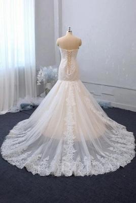 Robe de mariée élégante en dentelle sirène | Robes de mariée pas cher_2