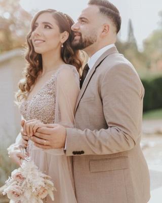 Robes de mariée modernes à manches   Robe de mariée en tulle_2
