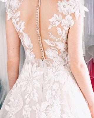 Designer Boho Brautkleider A linie | Hochzeitskleider Spitze_4
