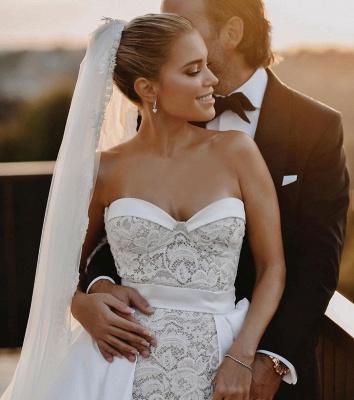 Robes de mariée élégantes en dentelle | Robe de mariée A ligne_2