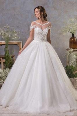 Robes de mariée simples Une ligne | Robe de mariée en tulle