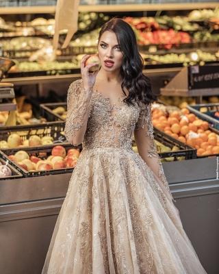 Superbe robe de mariée bohème | Robes de mariée manches longues_4