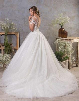 Robes de mariée simples Une ligne   Robe de mariée en tulle_2