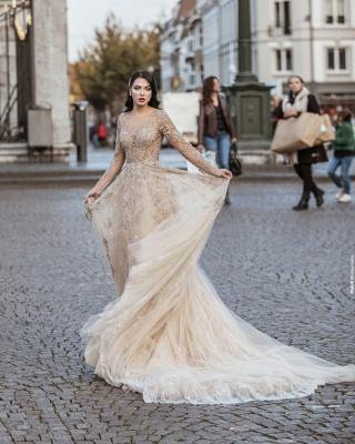 Superbe robe de mariée bohème | Robes de mariée manches longues_2