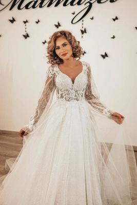 Robes de mariée de créateurs en dentelle | Robes de mariée bohème à manches_1