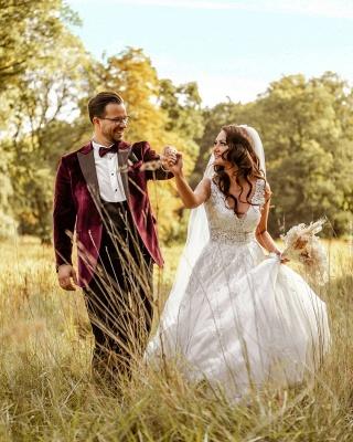 Robes de mariée de créateurs Une ligne | Robes de mariée avec dentelle_4