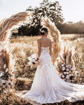 Robes de mariée de créateur sirène   Robe de mariée simple en dentelle_2