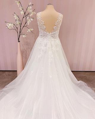 Robe de mariée simple A ligne   robes de mariée bohème_3