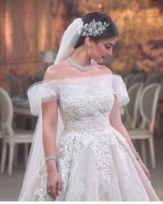 Belles robes de mariée Une ligne | Robes De Mariée Dentelle en ligne_3