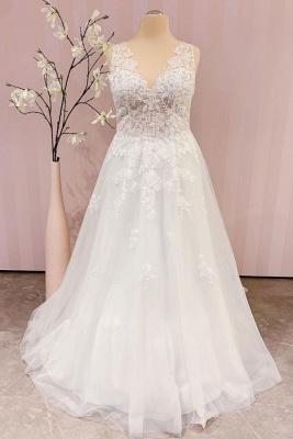 Robe de mariée simple A ligne   robes de mariée bohème_1