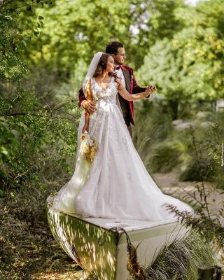 Robes de mariée de créateurs Une ligne | Robes de mariée avec dentelle_3