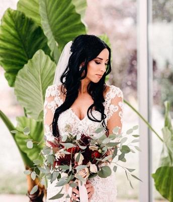 Robes de mariée de créateur sirène | Robe de mariée simple en dentelle_3