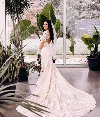 Robes de mariée de créateur sirène | Robe de mariée simple en dentelle_2