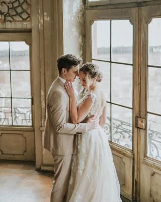 Dentelle de robe de mariée simple | Robes de mariée bohème pas cher_2