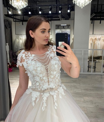 Robe de mariée design A ligne   Robe de mariée en tulle_2