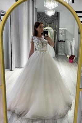 Robe de mariée design A ligne | Robe de mariée en tulle