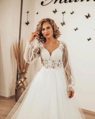 Robes de mariée de créateurs en dentelle | Robes de mariée bohème à manches_3