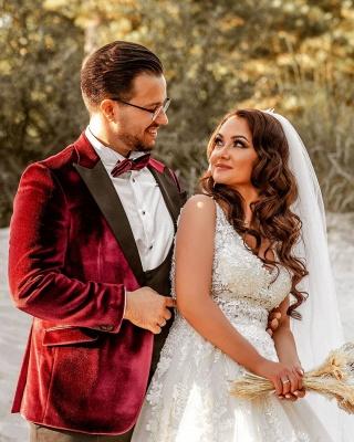 Robes de mariée de créateurs Une ligne | Robes de mariée avec dentelle_6