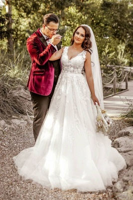 Robes de mariée de créateurs Une ligne | Robes de mariée avec dentelle_1