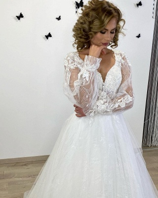 Robes de mariée de créateurs en dentelle | Robes de mariée bohème à manches_2