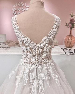 Robe de mariee vintage A ligne en dentelle | Robes de mariee en tulle en ligne_4