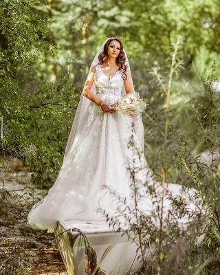 Robes de mariée de créateurs Une ligne | Robes de mariée avec dentelle_2
