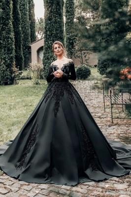 Robes de mariée princesse noir   Robes de mariée à manches_1