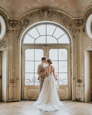 Dentelle de robe de mariée simple | Robes de mariée bohème pas cher_7