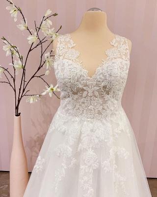 Robe de mariée simple A ligne   robes de mariée bohème_2