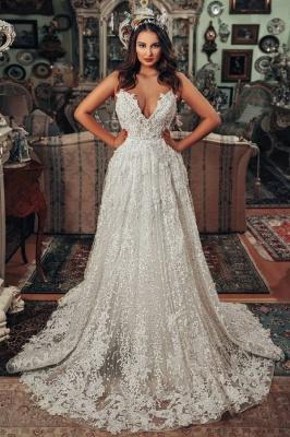 Superbes robes de mariée Une ligne   Robes de mariée en dentelle_1