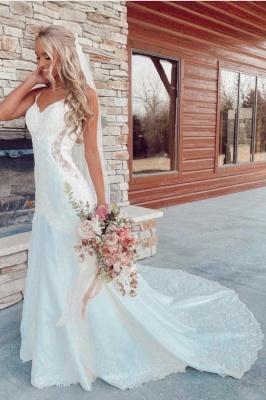 Belles robes de mariée sirène   Robes de mariée avec dentelle_1