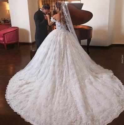 Robes de mariée de luxe avec dentelle | Robes De Mariée Princesse Pas Cher_3
