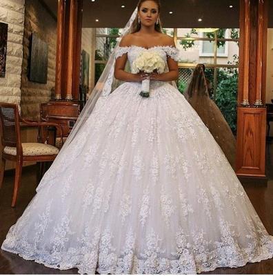 Robes de mariée de luxe avec dentelle | Robes De Mariée Princesse Pas Cher_2