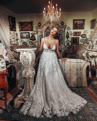 Superbes robes de mariée Une ligne   Robes de mariée en dentelle_2