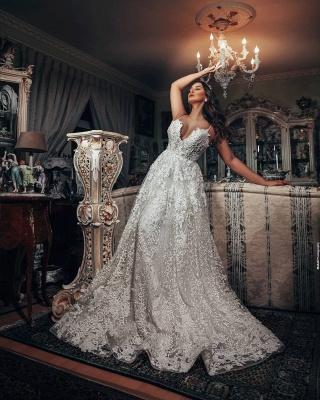 Superbes robes de mariée Une ligne   Robes de mariée en dentelle_3