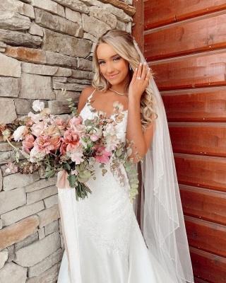 Belles robes de mariée sirène   Robes de mariée avec dentelle_4