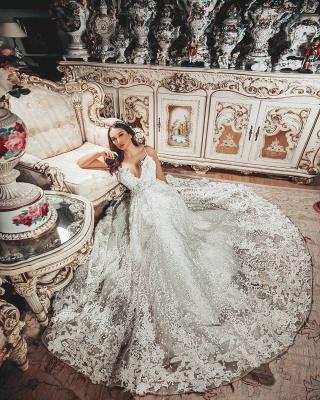 Superbes robes de mariée Une ligne   Robes de mariée en dentelle_5