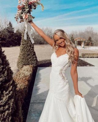 Belles robes de mariée sirène   Robes de mariée avec dentelle_3