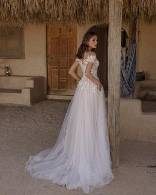 Robe de mariée simple A ligne   Acheter des robes de mariée pas chères en ligne_2