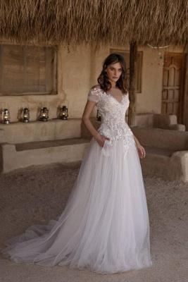 Robe de mariée simple A ligne   Acheter des robes de mariée pas chères en ligne_1