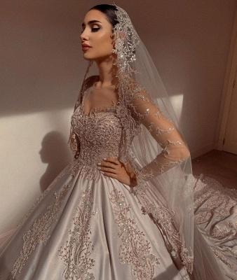 Robes de mariée extravagantes princesse   Robes de mariée à manches_6