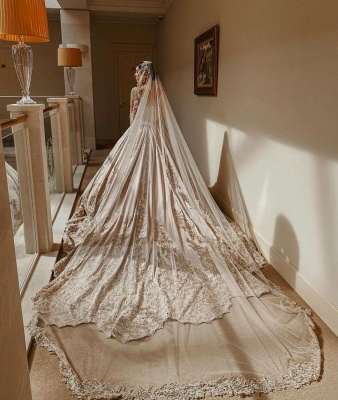 Robes de mariée extravagantes princesse   Robes de mariée à manches_2