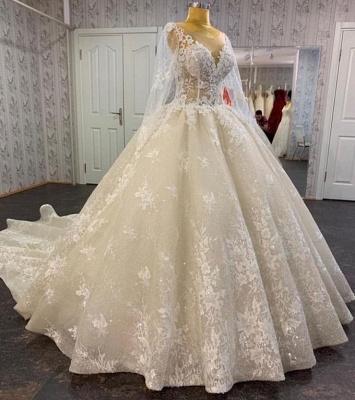 Robes de mariée princesse en dentelle | Robe de mariée à manches_2