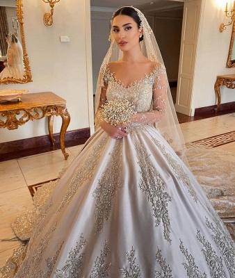Robes de mariée extravagantes princesse   Robes de mariée à manches_5